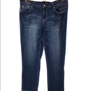 Earl Blue Jeans SZ 12 Embellished Back Flap Pocket